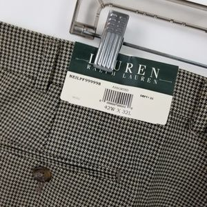 Lauren Ralph Lauren Pants - Lauren Ralph Lauren Mens Pleated Houndstooth Dress